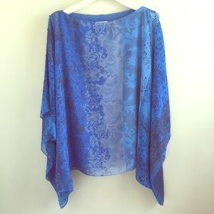 Soft Surroundings Blue & Bead Summer Topper